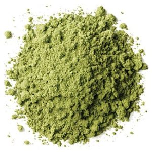 Green ground coffee powder